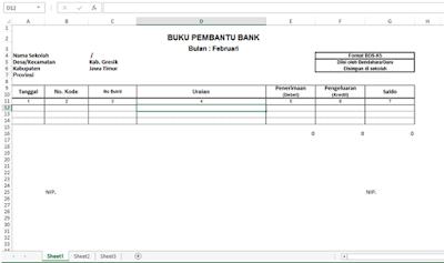 Format Formulir BOS K5 Excel