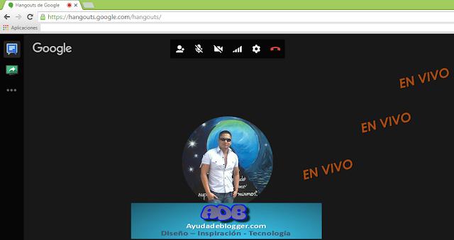 Señal en vivo Ayuda de Blogger