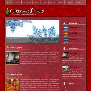 Christmas Carols blogger template. template blogspot free