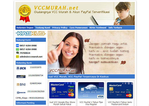 Jasa Virtual Credit Card (VCC) Murah