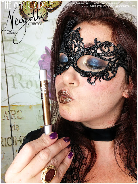 makeup applicazione magic circle vernissage gloss neogothic collection neve cosmetics  swatches