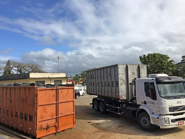 Prefeitura de Registro-SP faz parceria com empresa para dar destino correto a pneus velhos