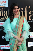 Samantha Ruth Prabhu Smiling Beauty in strange Designer Saree at IIFA Utsavam Awards 2017  Day 2  Exclusive 18.JPG