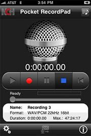 RecordPad iPhone Audio Recorder