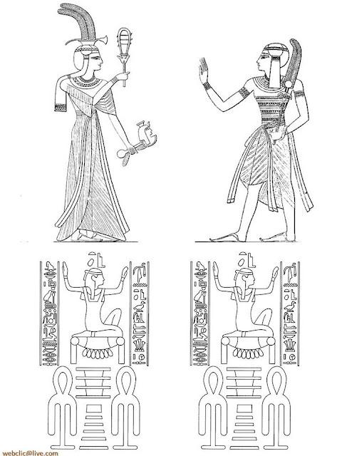 Desenhos na parede Antigo Egito