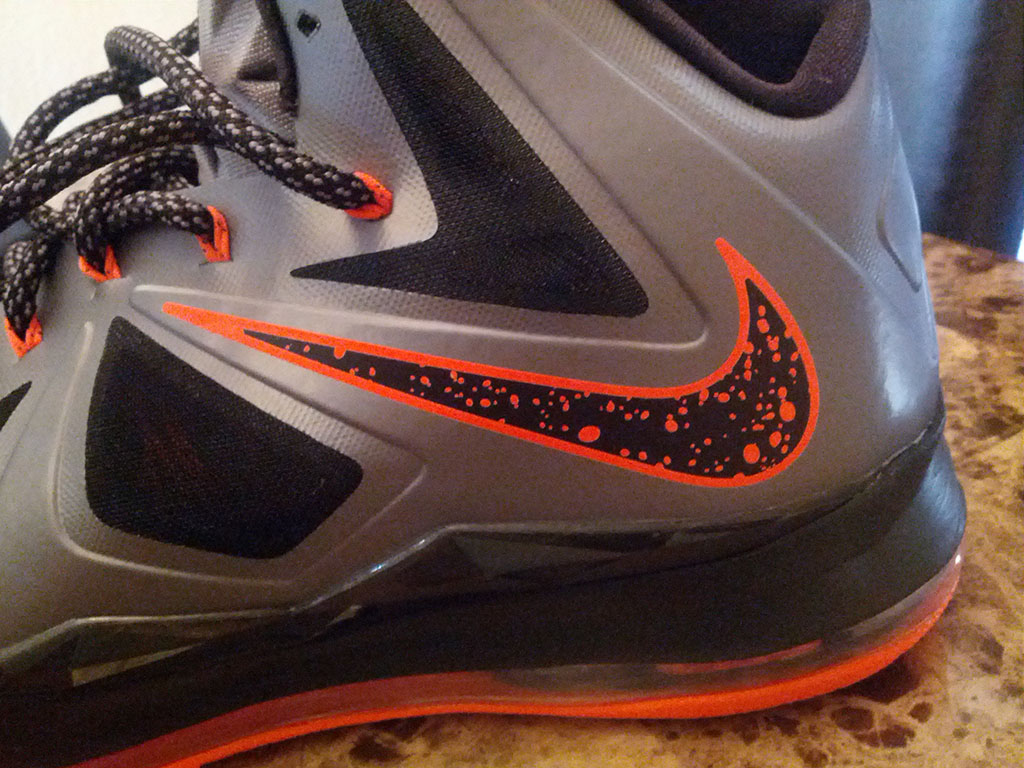 NWK to MIA: Nike LeBron X - Silver/Black/Orange