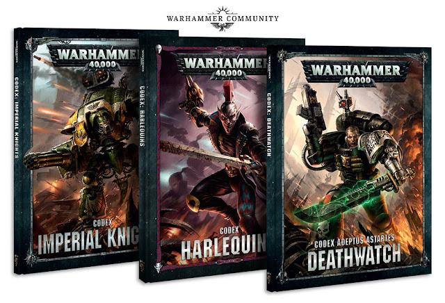Caballeros Imperiales, Arlequines y Deathwatch