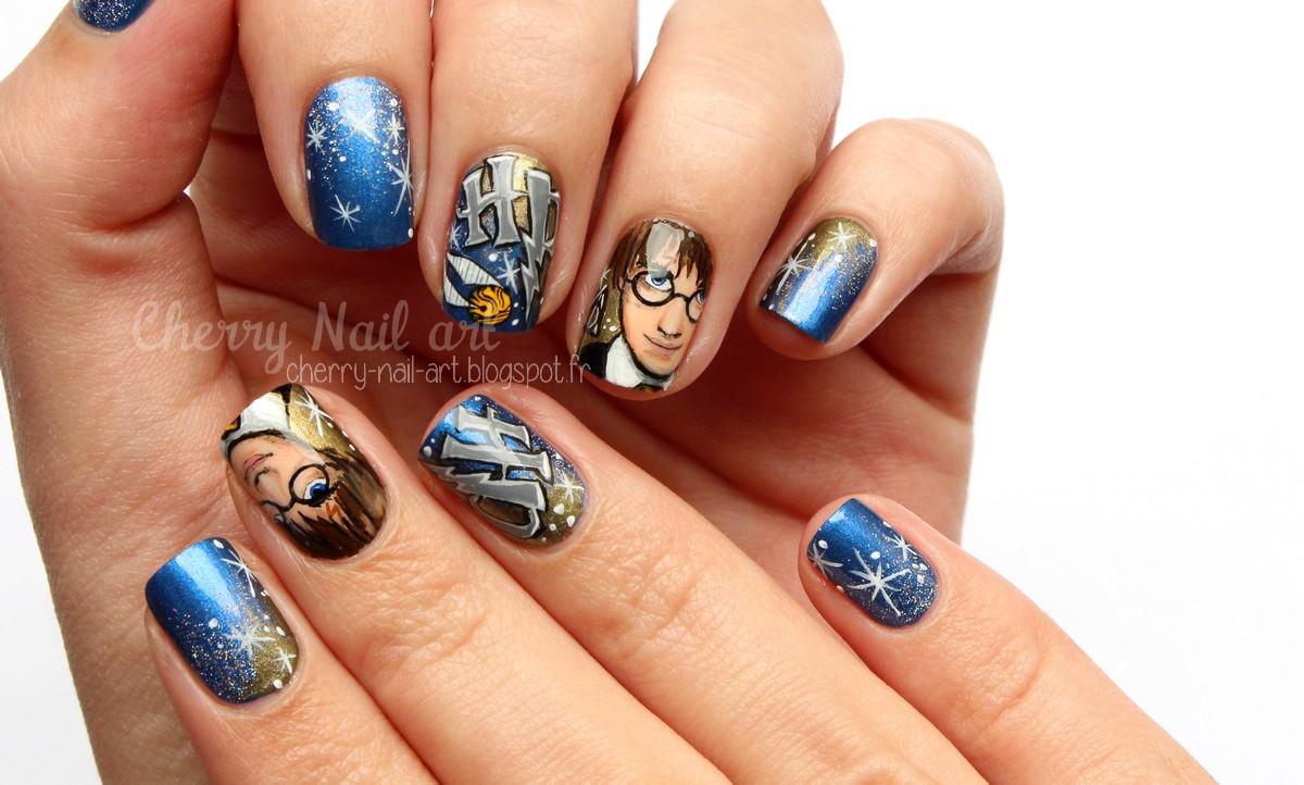CHERRY NAIL ART - Blog mode beaut: Nail art Harry Potter