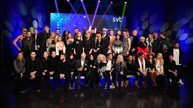 Participantes del Melodifestivalen 2017 (Photo: TT)