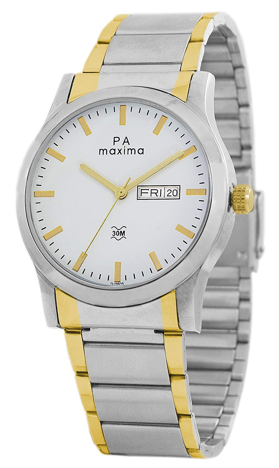 for stainless online steel gold india shopping zoom o women buy by watch dial in watches analog white maxima
