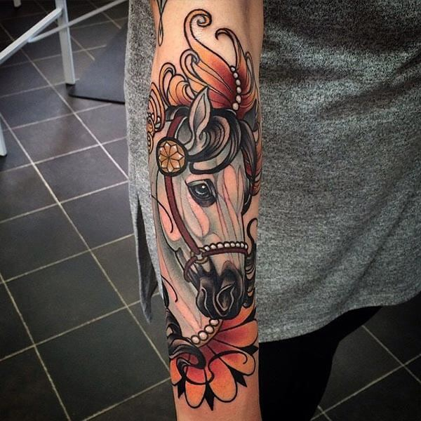 horse tattoo art