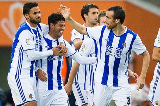 Niềm vui ghi bàn của các cầu thủ Real Sociedad
