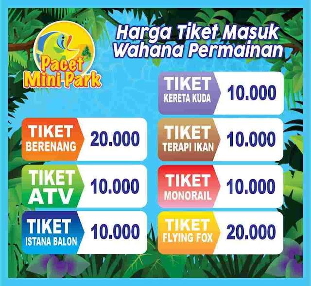 Harga tiket Wahana Pacet Mini Park