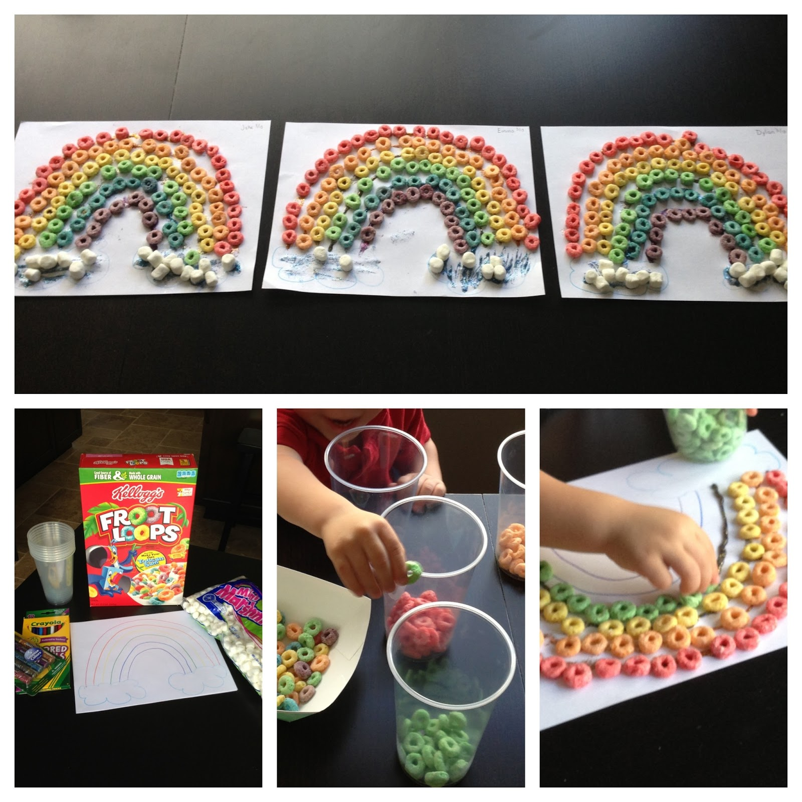 Party Of 5 Snacktivity Fruit Loop Rainbows