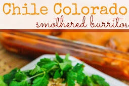 Slow Cooker Chile Colorado Smothered Burritos