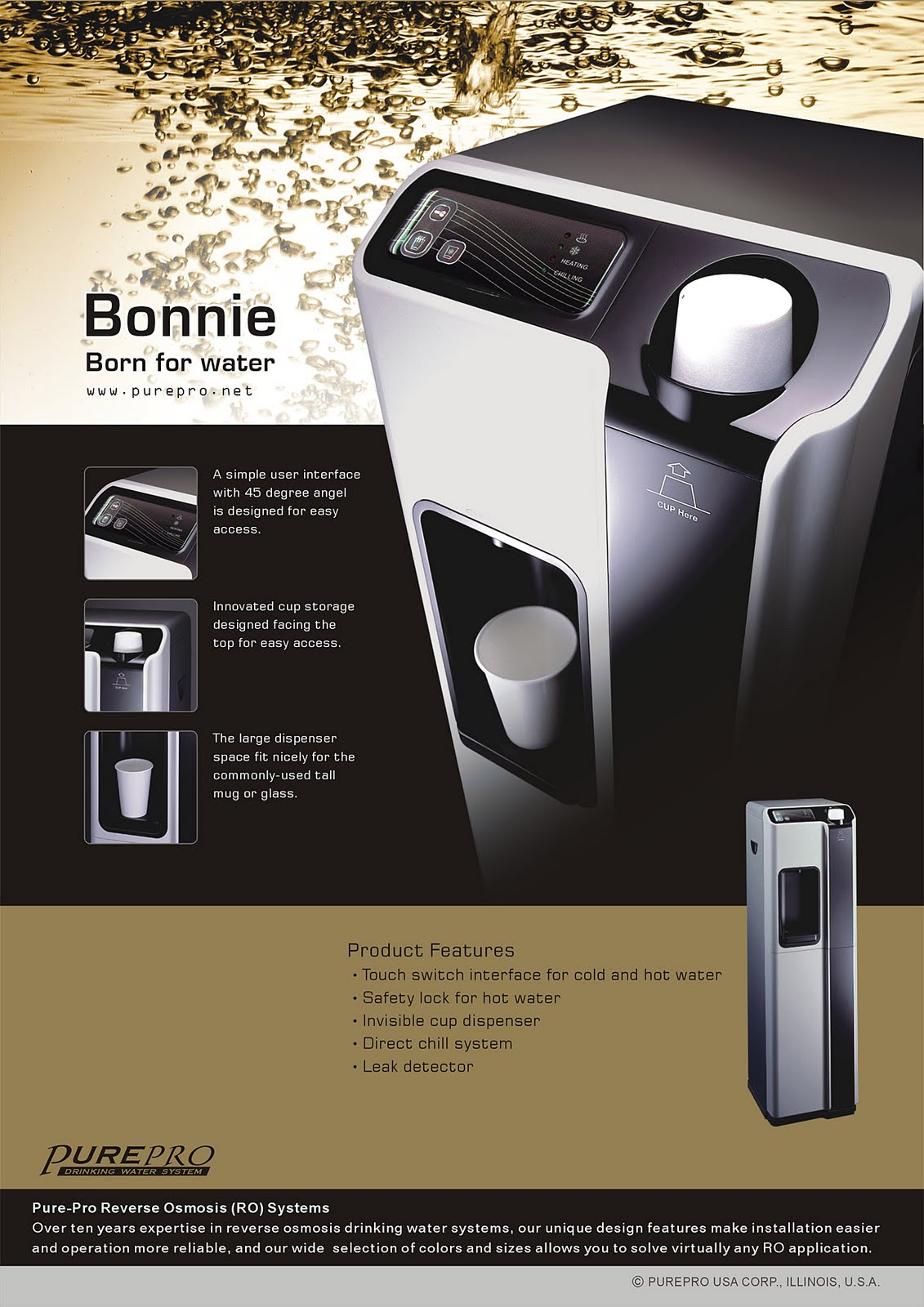 PurePro® Bonnie Reverse Osmosis Water Filtration System