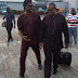 Basketmouth Spotted With Former Anambra State Governor, Peter Obi At The Airport