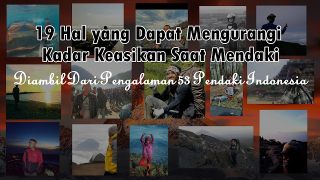 pengalaman pendaki gunung