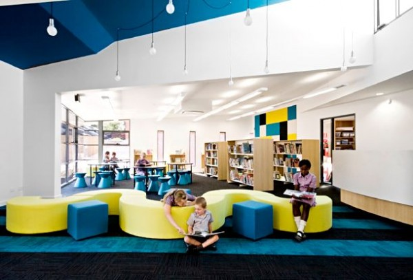 1 contemporary interior school design with colorfull