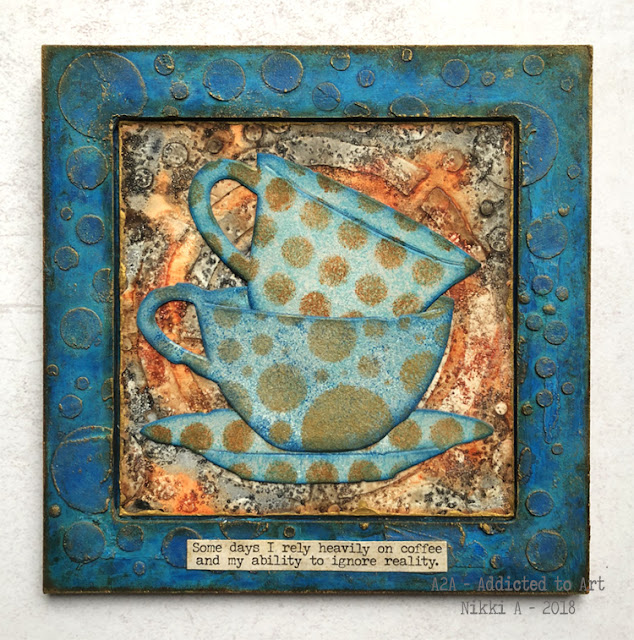 Tim Holtz Tea Time Bigz Die with Snarky Small Talk - by Nikki Acton