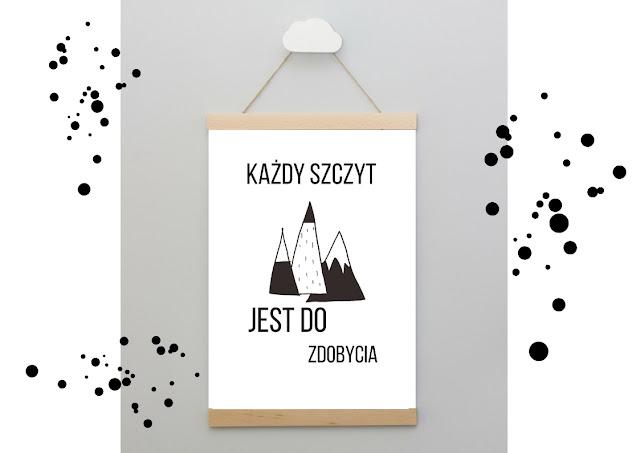 plakaty z tekstami motywacyjnymi