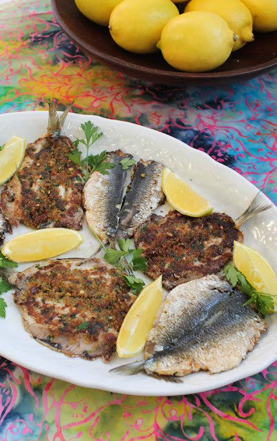 Food Lust People Love: Butterflied Stuffed Sardines make the most of these flavorful fish, by removing the bones and adding even more flavor with a well-seasoned bread crumb stuffing.