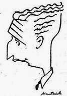 Caricatura de Sebastián Torralba por Muntañola