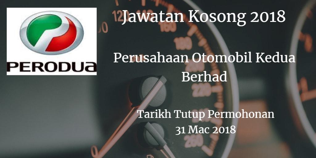 Jawatan Kosong PERODUA 31 Mac 2018