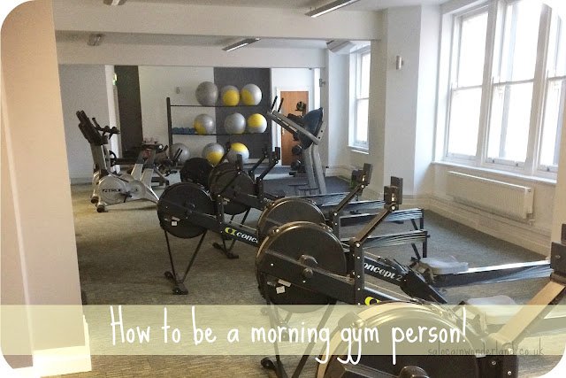 how to be a morning gym person