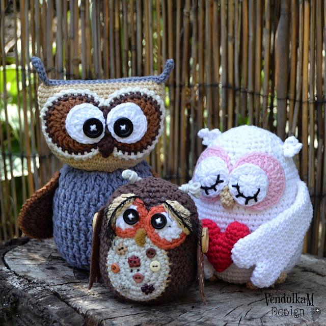 Crochet pattern - Crochet owl, amigurumi by VendulkaM