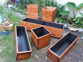 Maceteros de madera para interiores