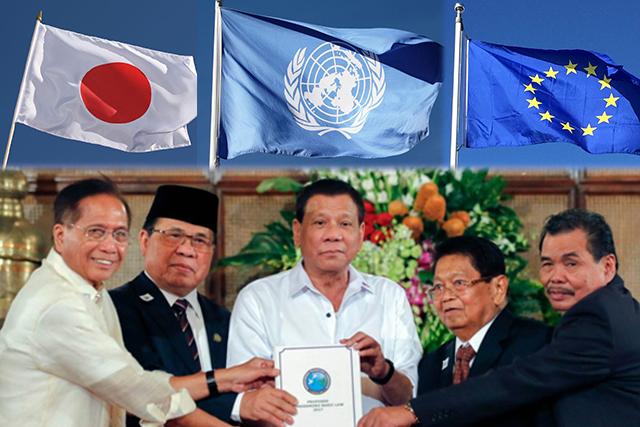 Pilipinas pinuri ng UN EU at Japan dahil sa pagpasa ng Bangsamoro Organic Law