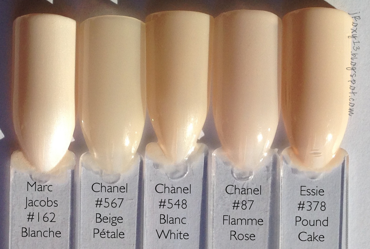 Chanel in #546 Rouge Red, #548 Blanc White, #556 Beige