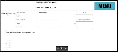 Aplikasi Pembuat Soal Ujian SD|SMP|SMA|SMK|MA