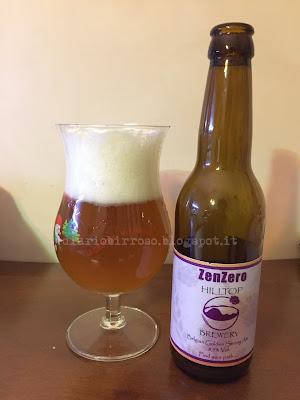 Hilltop Brewery ZenZero birra recensione blog birra artigianale
