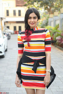 Adha Sharma in a Cute Colorful Jumpsuit Styled By Manasi Aggarwal Promoting movie Commando 2 (25).JPG