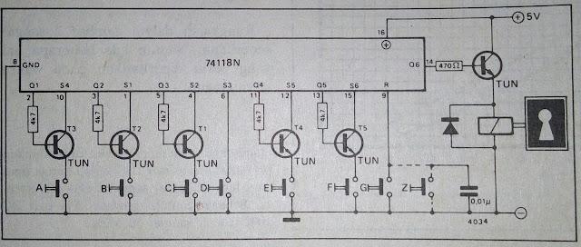 Rangkaian Kunci Kode Elektronik