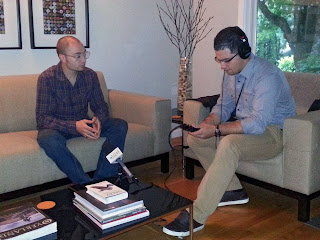 Andy Lilienthal of Subcompact Culture being interviewed for Marketplace on NPR.