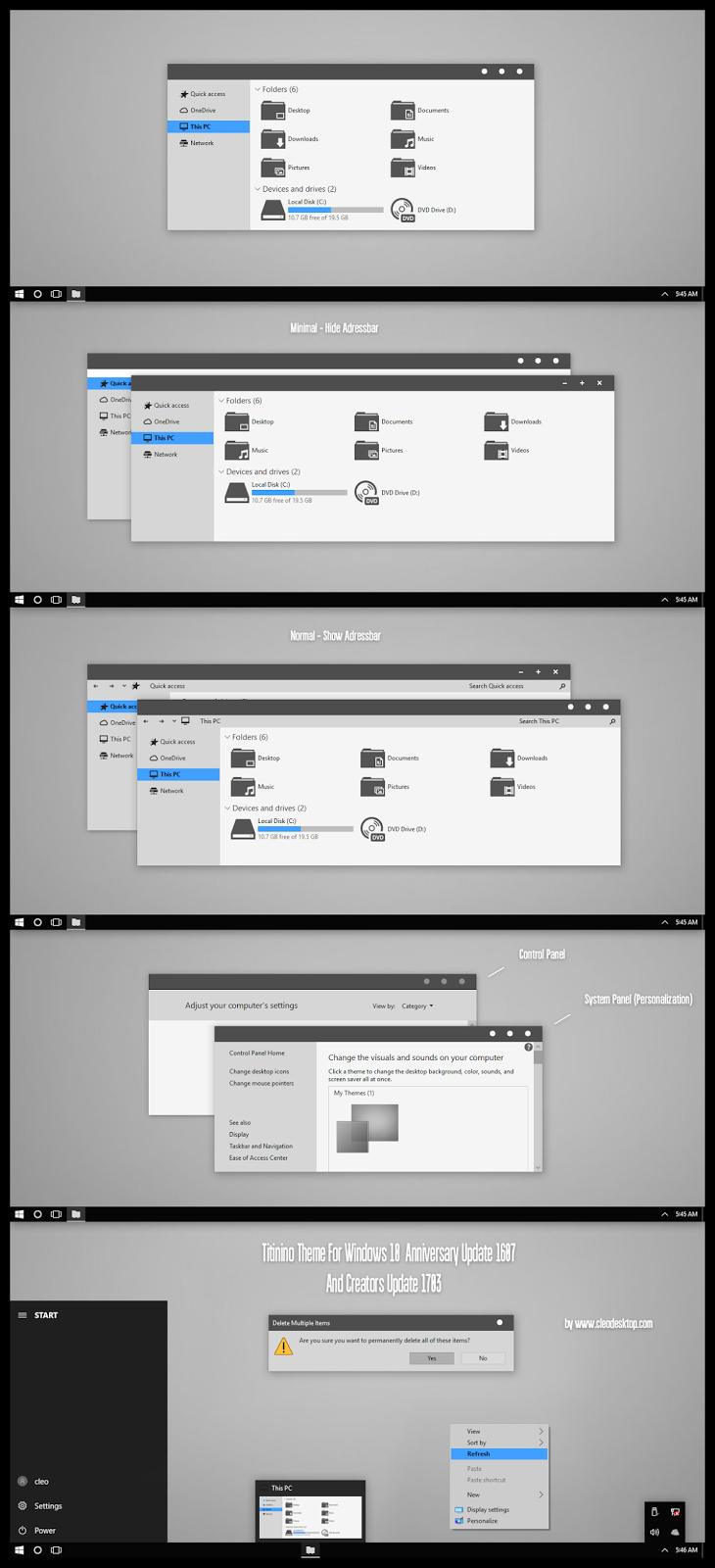 Titinino Theme For Windows10 Creators Update 1703