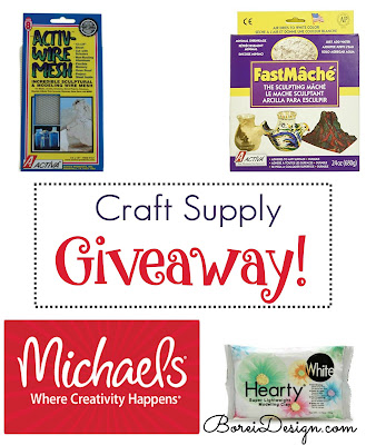 paper-mache-craft-supplies-giveaway-air-dry-paper-clay-micheals-gift-card-giveaway