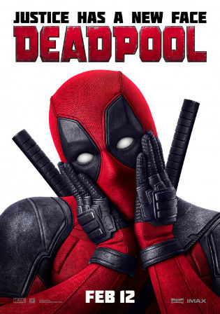 Poster of Deadpool Full Movie Download Dual Audio HDTS 400Mb