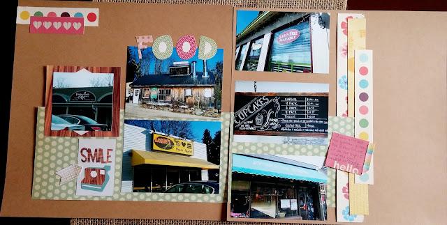 Cook scrap craft food scrapbook page for Scrapbooking cuisine