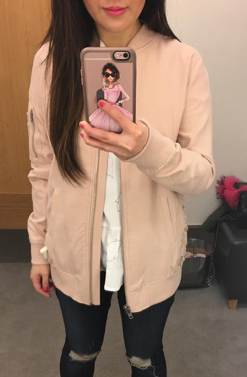 Blush Lace Bomber Jacket - I am Style-ish
