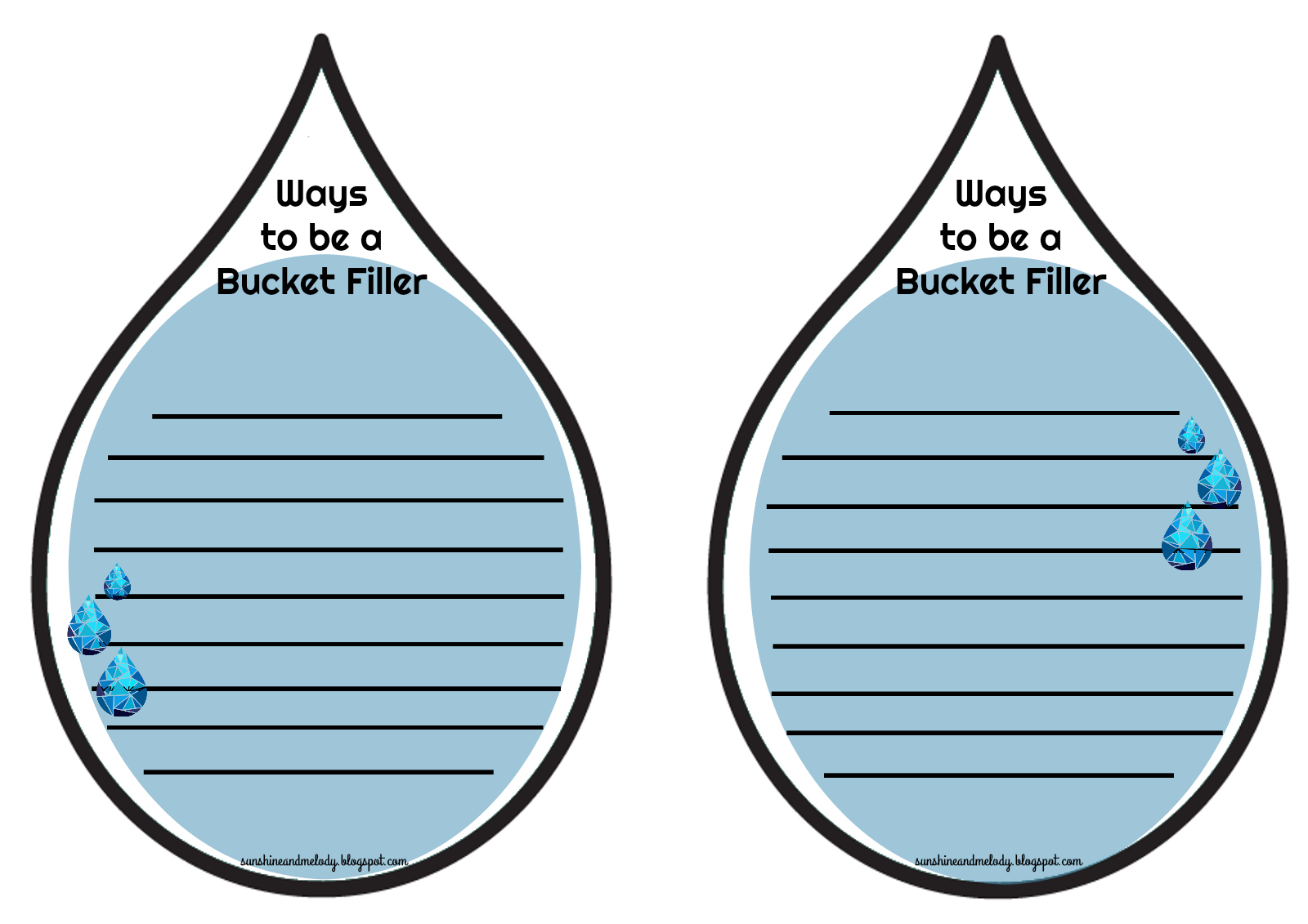 Drop In The Bucket Printables