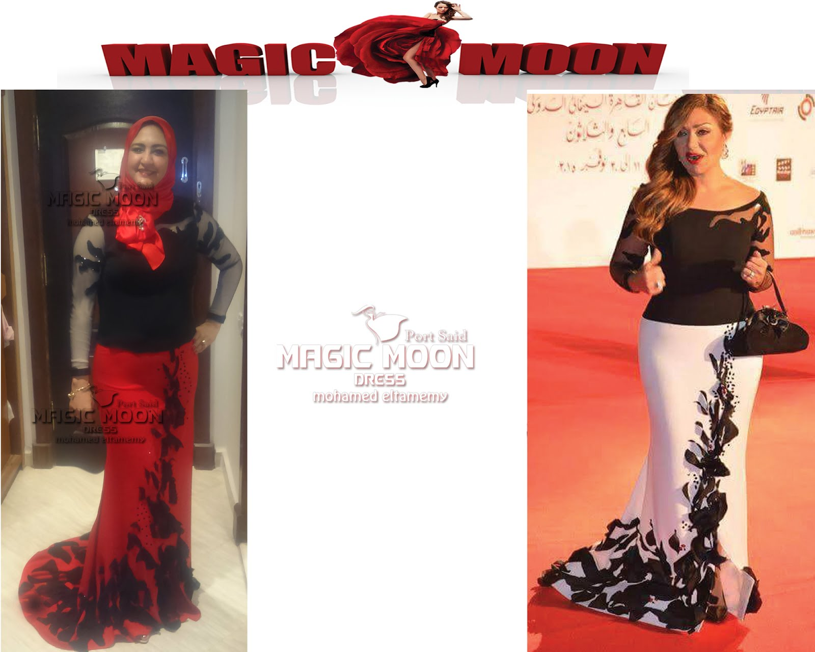 fdc48a463c8aa magic moon.Dresses  فستان اسود في احمر سهرة سوارية ماجيك مون بورسعيد