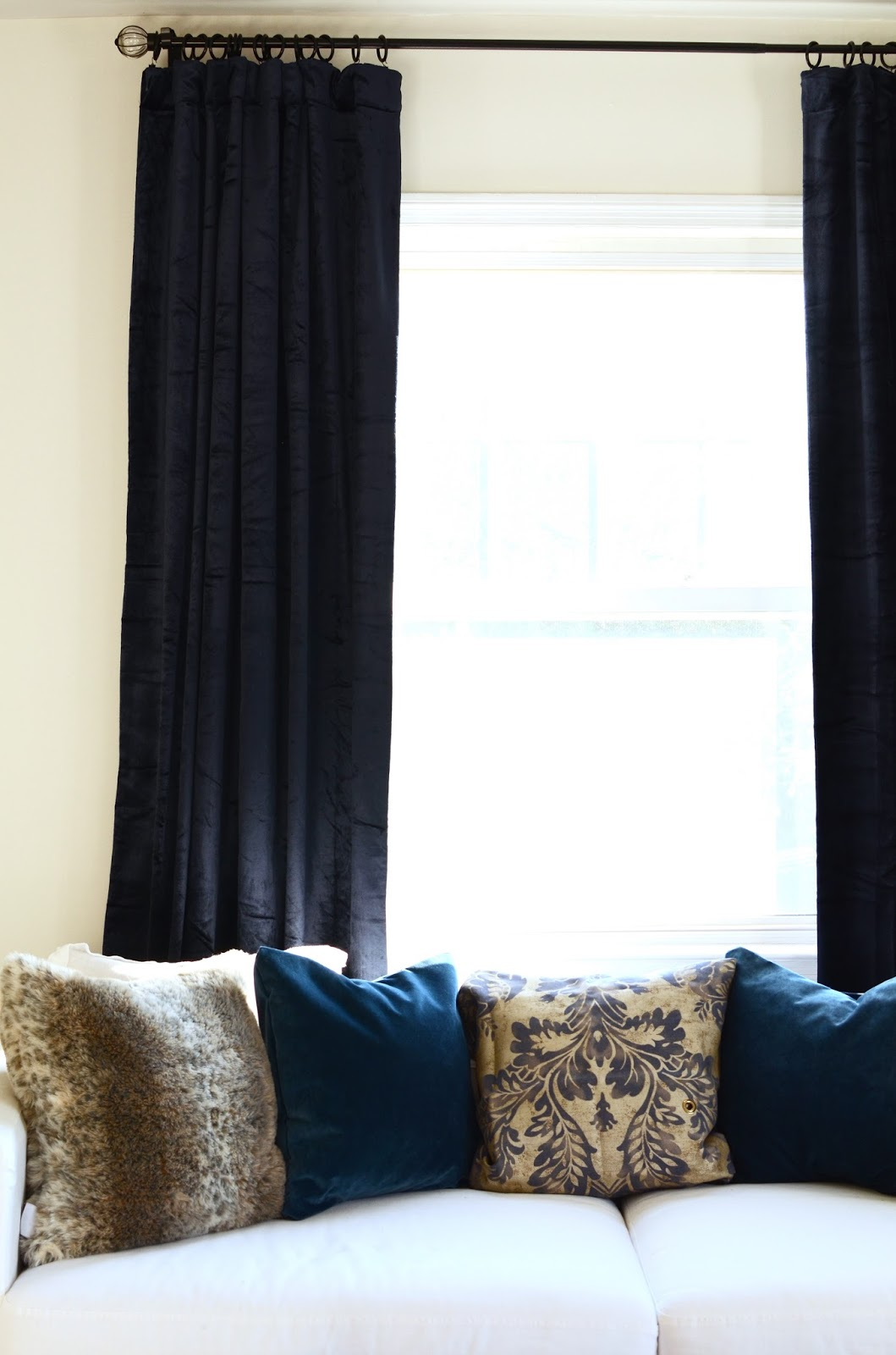 The Perfect Blue Velvet Curtains | By Georgia Grace