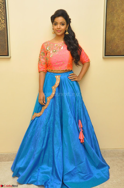 Nithya Shetty in Orange Choli at Kalamandir Foundation 7th anniversary Celebrations ~  Actress Galleries 001.JPG