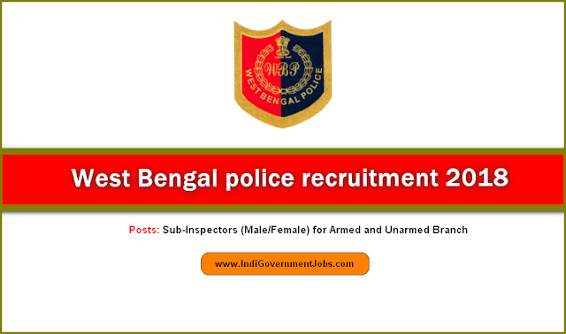 West Bengal Police recruitment for SI posts