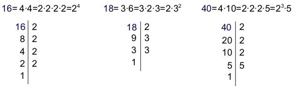 Resultado de imagen para descomponer numeros en factores primos
