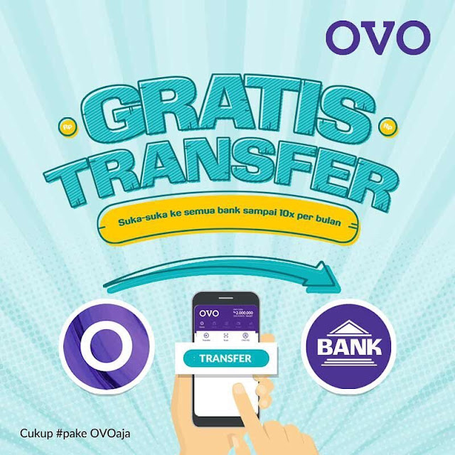 #OVO - #Promo GRATIS Transfer Suka Suka Antar Bank Hingga 10 Kali / Bulan
